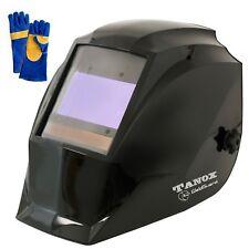 "Tanox Digital Pro Auto Darkening Welding Helmet ADF-210S & 16"" Leather gloves"