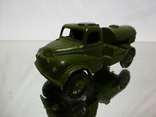 DINKY TOYS 643 ARMY WATER TANKER - ARMY GREEN 1:55? - VERY GOOD COND - MILITARY