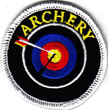 """ARCHERY"" w/TARGET & ARROW - SPORTS - GAMES - Iron On Embroidered Patch"