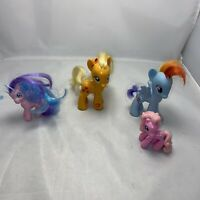 My Little Pony Toy Bundle X 4 Fun Pony Figures Applejack/rainbow Dash  Free P&p