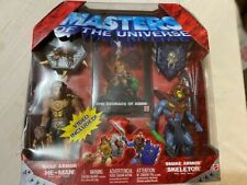 Wolf Armor HE-MAN Snake SKELETOR MOTU Masters of the Universe 200X 2 figure pack