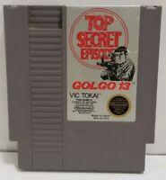 VINTAGE NINTENDO NES TOP SECRET EPISODE GOLGO 13 VIDEO GAME TESTED FREE SHIPPING