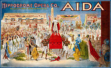 Old Vintage Opera Poster Aida - Fade Resistant HD Print or Canvas