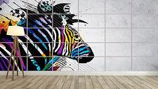 ZEBRE ZEBRA STYLE COLORED Giant Poster Home Deco Salon 252cmX150