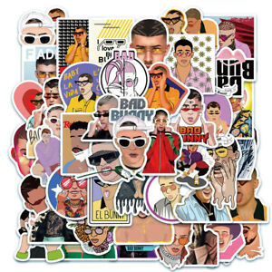 50PCS  Singer  Bad Bunny Stickers DIY for Skateboard Laptop Luggage Decal