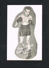 RARE WORLD CHAMPION HARRY JEFFRA Baltimore boxing unused postcard boxer  card