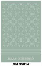 Montex 1/35 M4A1 Sherman Wheel Paint Mask for Dragon kit (1 Sheet)