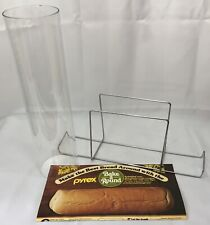+Pyrex Bake a Round Bread Baking Tube #990 Glass Corning w/ Instructions NO BOX