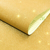 DIY Wall Stickers Contact Paper Gold Glitter Vinyl Self Adhesive Furniture Decor