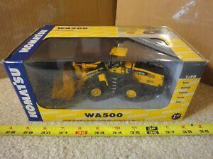 First Gear Kamatsu WA500 wheel loader, 1/50 diecast model excavator. NOS/New!