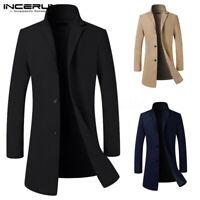 Hommes Manteau d'hiver manteau long manteau boutonnage manteau Cape Outwear