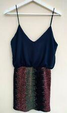BNWT - TFNC @ TopShop Navy sequin mini dress Sizes S = UK 10