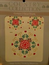 Meyercord Vintage Water Applied Decals Transfers Country Flowers Floral NOS NEW