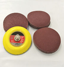 "3"" Hook & Loop DISC Sanding Pad Kit With Sand Paper"