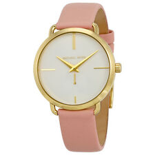Michael Kors Portia White Dial Ladies Blush Pink Leather Watch MK2659