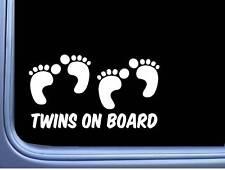 "Twins On Board Decal L993 8"" Baby Sticker Car Window"
