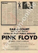 Pink Floyd Earls Court Friday 18 May SOLD OUT MM3 concert advert 1973