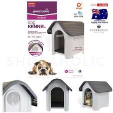 Plastic Weatherproof Dog Kennel Outdoor Indoor Puppy Garden  Pet House Medium