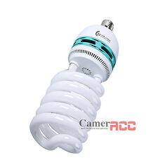 Phot-R 2x200W 200-240V E27 5500K Spiral Photo Studio Daylight Bulb Chamois Cloth