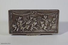SUPERB ANTIQUE SILVER SNUFF BOX-19TH CENTURY