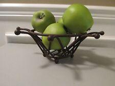 Vintage Primitive Rusty Metal Bowl Basket