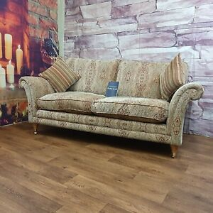 PARKER KNOLL BURGHLEY LARGE 2 SEATER SOFA IN BASLOW MEDALLION GOLD RRP £1290