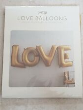 Ginger Ray Gold LOVE Balloons, 45 Inch, Brand New