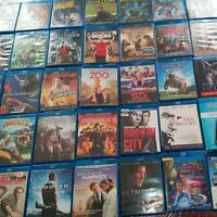 Blu-Ray Movies DVD Wholesale Lot of 35 Whole Sale Bulk Mixed Collection Action