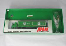 H0 1:87 AMW 50357 MB Sattelzug Licher mit Pilsglas und Kolibri OVP SKM0922