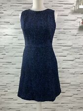 ZARA WOMAN Blue & Black Sleeveless Skater Dress - Size M - Smart Occasion Party