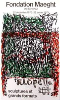 """Riopelle Jean Paul -Poster exhibition at the """"Maeght Foundation"""" in 1970 – RARE"""