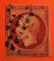 MARCOPHILES ! EMPIRE NON DENTELE N° 17c CarminS/Pail (TB-1194-1) OBLIT Bien COTE