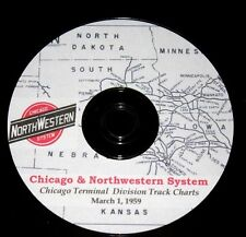 Chicago & Northwestern RR 1959 Chicago Terminal Div Track Chart PDF Pages on DVD