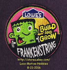 LMH PATCH Badge  2009 FRANKENSTRING Monster  Build Grow LOWES Project Series