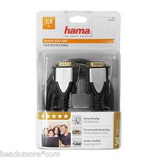 Hama Cavo VGA CABLE 1,8m connettori placcati in oro 24k metallo pieno Cavo VGA 15p 054529