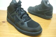 NIKE SON OF FORCE MID BOYS SHOES TRAINERS UK SIZE 10 - 2  BLACK 615161 021