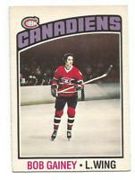 1976-77 O-Pee-Chee #44 Bob Gainey Montreal Canadiens