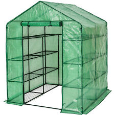 Serra da giardino acciaio PVC per piante con scaffali orto esterno 143x143x195cm