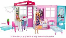 Barbie Doll House Furniture Accessories Pool 1 Story Playhouse Toy Set FXG55