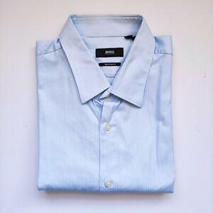 Hugo Boss Men's Blue Regular Fit Dress Shirt Size 34/35