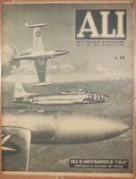 ALI SETTIMANALE AVIAZIONE 12 MAGGIO 1952 CESARE DAL FABBRO DISCHI VOLANTI UFO