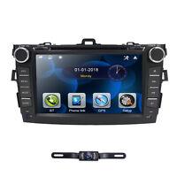 "8"" For Toyota Corolla 2007-2011 2DIN Car Stereo GPS HeadUnit DVD Playe Bluetooth"