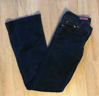 AG Adriano Goldschmied Jeans Womens 26 Merlot Fit Navy Blue Flare Corduroy Pants