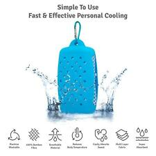 Large Cooling Icy Bamboo Ice Cool Cold Towel Quick Dry Fast Sweat Absorbing Blue