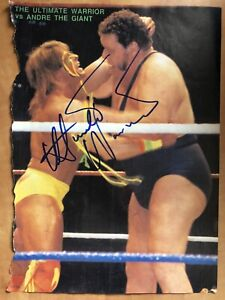 Ultimate Warrior & Shawn Michaels Signed Autographed Magazine Photo WWF WWE WCW
