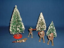 Barclay WWII Pod Foot American Hollow Lead Toy Soldiers (4)