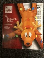 Inflatable Gutter Reindeer Hanging 4 Ft Tall Airblown Christmas Funny &IN HAND**