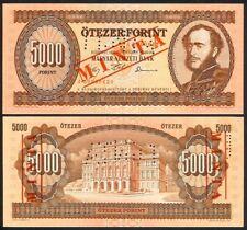 HUNGARY 5000 FORINT 30.10.1992 SPECIMEN P177s UNC