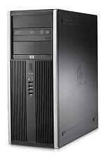 Rápida Barata HP 8200 Torre PC ordenador Windows 7 Pro, 4GB Memoria 300GB HDD