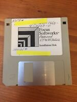 Vintage Macintosh Mac Focus Softworks Installation Floppy Disk Software 1997